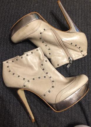Faith кожаные ботильоны ботинки