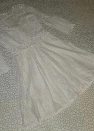 Нарядное кружевное платье 10-12 лет