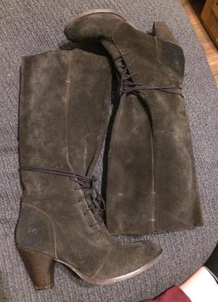 Bronx сапоги сапожки кожаные замшевые