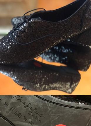 Стильные туфли zara 38