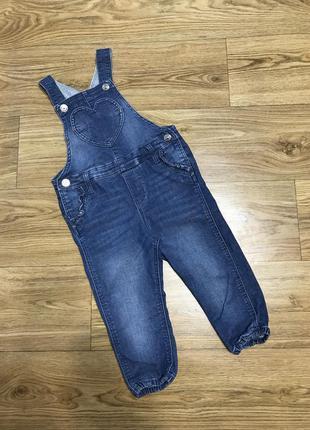 Комбинезон джинсовый на девочку 1-2 года