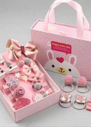 Подарочный набор заколок и резинок для девочки