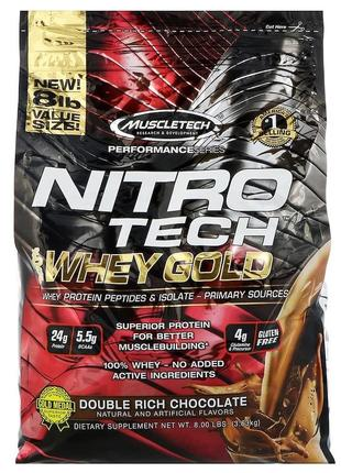 Изолят сывороточного протеина. MuscleTech Nitro Tech Whey Gold.