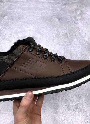 Мужские зимние new balance 574 brown, кроссовки нью беленс с м...