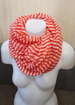Объемный шарф в полоску 75/100