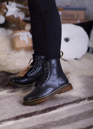 ✳️зимние✳️мужские/женские dr martens 1460 black, чёрные кожаны...