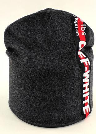Детская и подростковая шапка микро ангора двойная