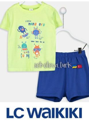 Летний костюмчик футболка шорты 12-18 мес lc waikiki