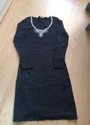 Стильное платье с шерстью