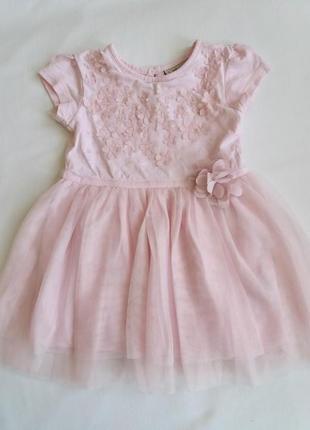 Нежно - розовое платье на девочку