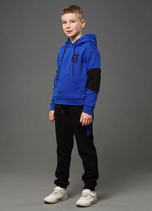Лукас - теплый костюм с начесом, цвет хаки