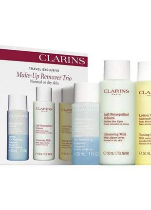 Clarins make up remover trio