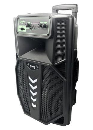Активная Bluetooth акустическая колонка бумбокс 12102