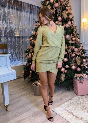 Платье трикотажное / на новый год / на корпоратив