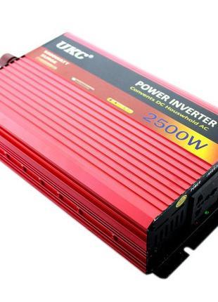 Преобразователь UKC 2500W 12V/220 авто инвертор AC/DC