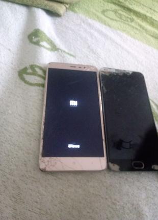 Продам телефон Meizu m2 note, Xiaomi redmi note 3pro. На запчасти