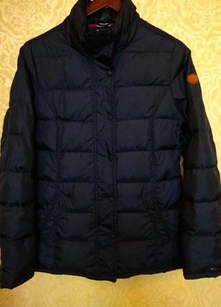 Тёмно синяя куртка пуховик tommy hilfiger, оригинал