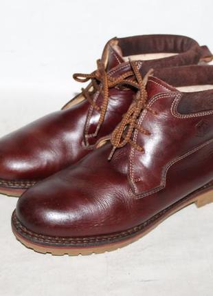 Теплые кожаные ботинки lumberjack 38-39 размер натуральная кож...