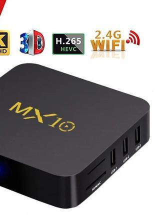 ТВ приставка Android TV Box MX10 4K Smart TV 4/32 ГБ
