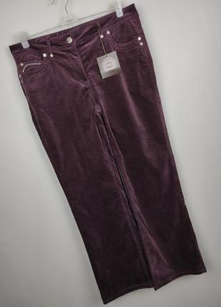 Джинсы брюки стрейчевые велюровые новые модные со стразами uk ...