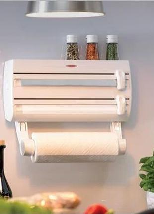 Кухонный тройной держатель Triple Paper Dispenser 3 в 1 для бу...