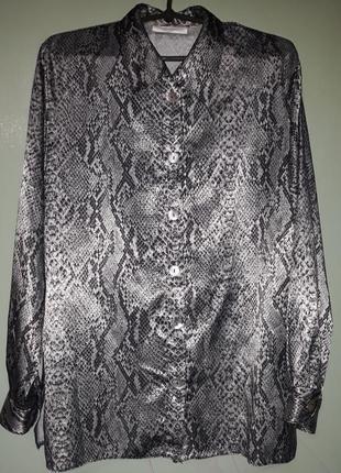 Блузка принт змеи