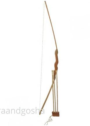 Игрушечный лук 171870y 1м с чехлом для стрел, набор лучника, д...