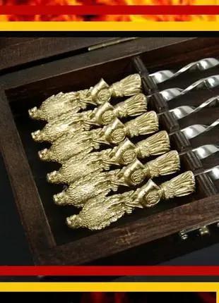 Подарок мужчине - набор шампуров ручной работы Хищный ястреб