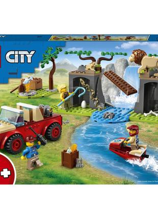 Конструктор LEGO City Wildlife 60301 Спасательный внедорожник ...