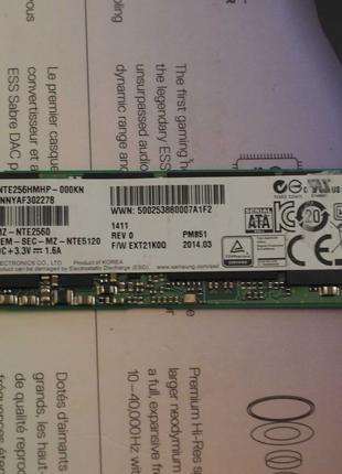 Накопитель SSD Samsung M.2 sata 256GB - (MZ-NTE2560)