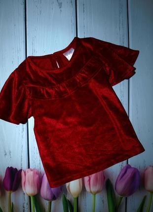 Красивая велюровая блуза e-vie