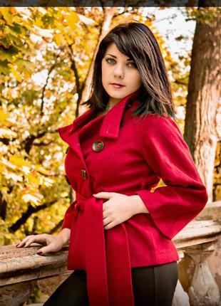 Кашемировое брендовое пальто zara на осень+🎁шарф