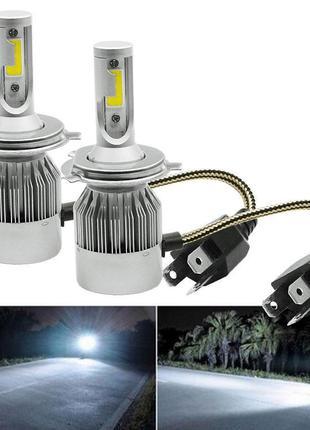 LED лампы для авто С6-H4 Turbo LED фары MS