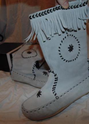 Сапоги ботинки замшевые h&m новые без единого дефекта размер 3...
