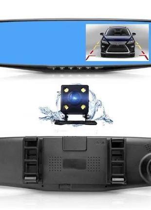 Зеркало видеорегистратор с камерой заднего вида Vehicle BlackB...