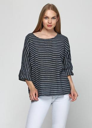Полосатая итальянская блуза-туника, состояние новой, своя