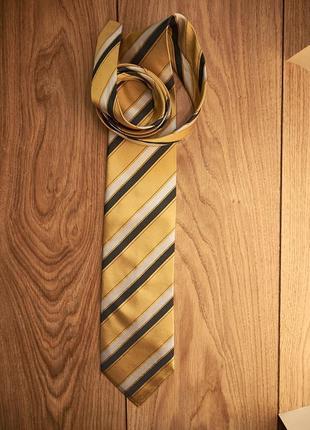 Стильный винтажный шелковый галстук