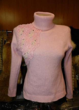 ✅тёплый ангоровый свитерок с жемчугом