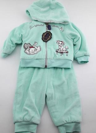 Теплый костюмчик для новорожденного