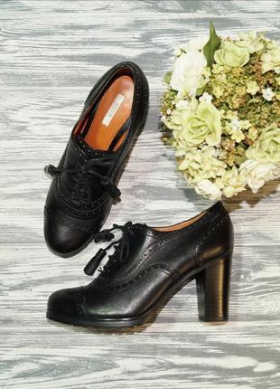 🌿37🌿geox. кожа. оригинал. базовые туфли на шнуровке