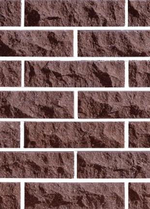 Облицовочный Кирпич LAND BRICK рваный скала коричневый