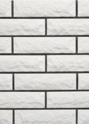 Облицовочный Кирпич LAND BRICK рваный скала белый