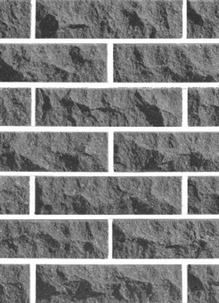 Облицовочный Кирпич LAND BRICK рваный скала серый