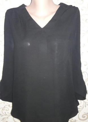 Удлиненная черная рубашка