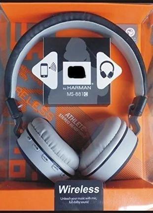 Беспроводные наушники Bluetooth MS881ABT, встроенный MP3 плеер...