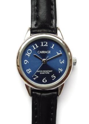 Carriage by timex классические часы из сша кожаный ремешок wr30m