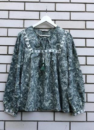 Блузка вышиванка в этно бохо стиле,большой размер батал