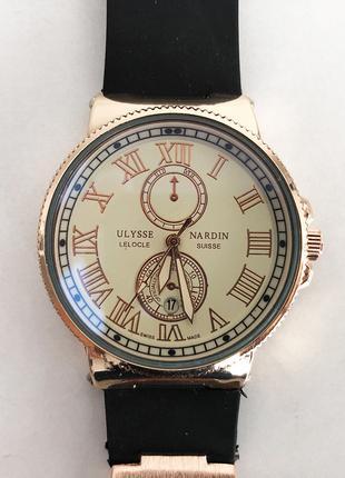 Часы наручные Ulysse Nardin Brown ремешок коричневый (реплика)...