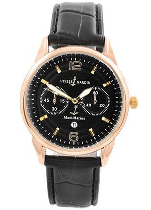 Часы наручные Ulysse Nardin-Maxi Marine Black ремешок черный (...