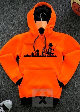 Худи оранжевые